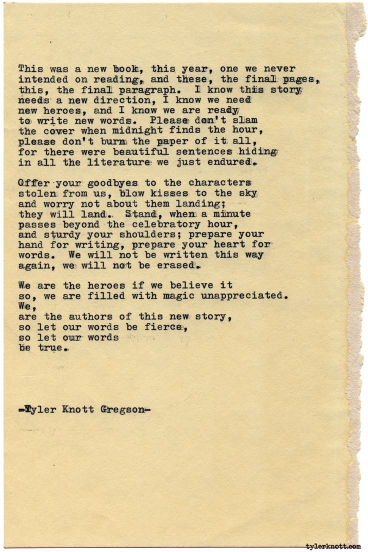 Typewriter Series #1740 by Tyler Knott Gregson