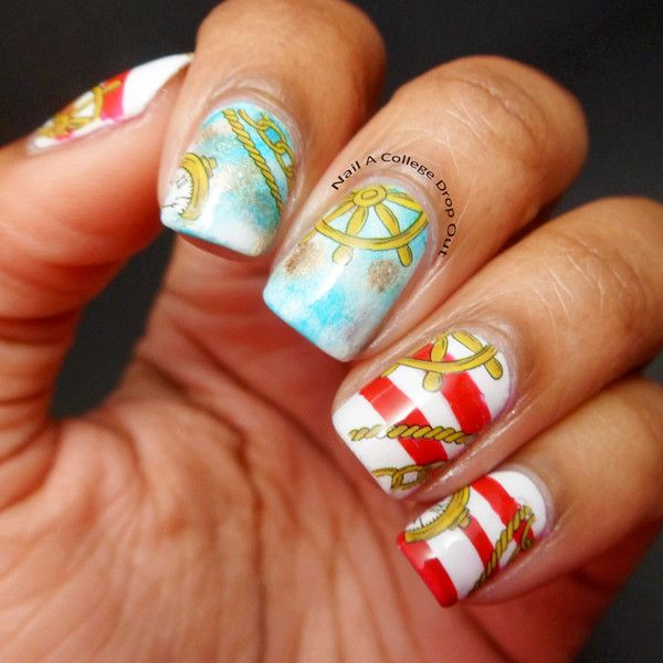 468 best nautical nails images on Pinterest | Nail scissors, Nail ...