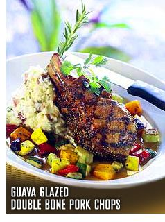 Enjoy this Guava Glazed Double Bone #Pork Chops #recipe from the islands. (not available in restaurants)