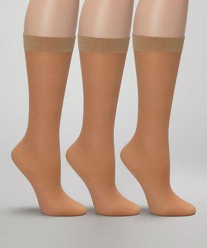 Look at this #zulilyfind! Angel Hosiery Nude Opaque Maternity Socks Set by Angel Hosiery #zulilyfinds
