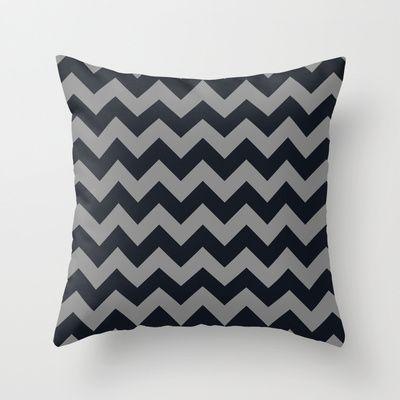 Chevrons Gray & Black Throw Pillow by Julie's Thingummies - $20.00