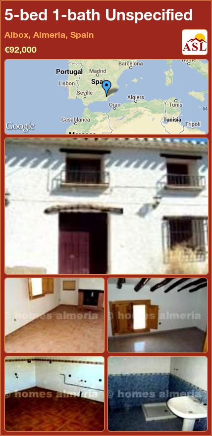 5-bed 1-bath Unspecified in Albox, Almeria, Spain ►€92,000 #PropertyForSaleInSpain