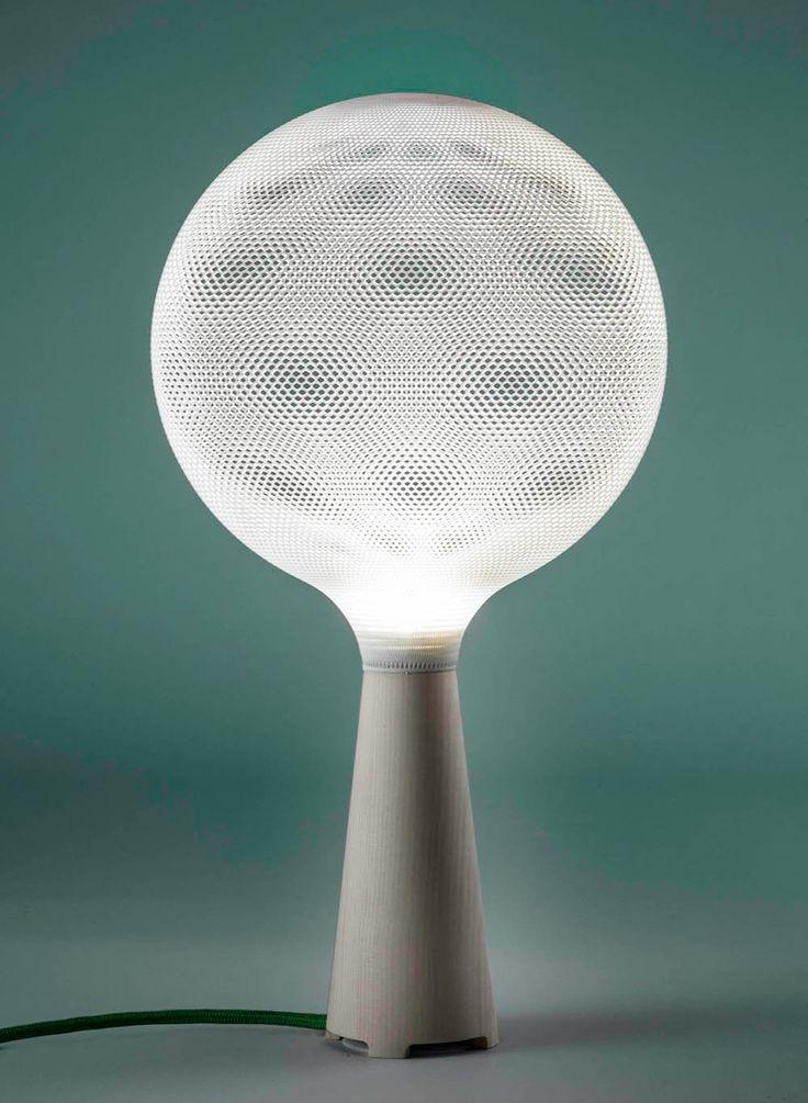 afillia: 3D printed polyamide lighting pendants by alessandro zambelli for .exnovo
