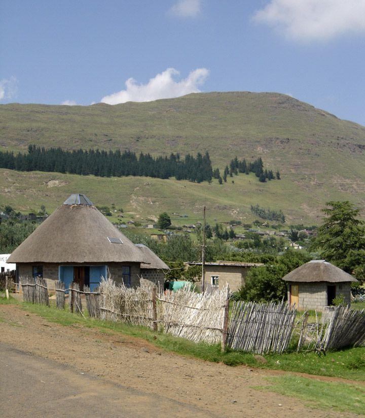 Modern Rondavel, Lesotho, Africa