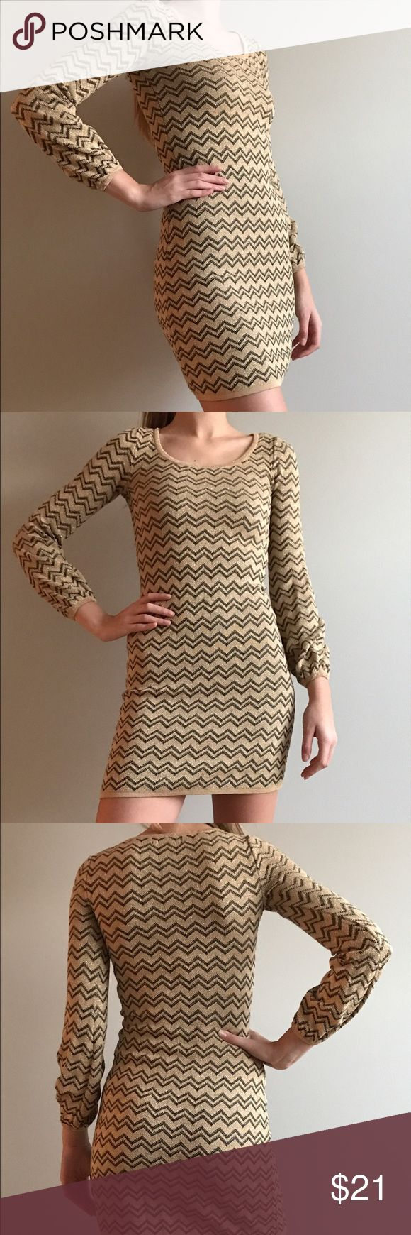 INC gold brown mini dress Very beautiful INC mini dress. Gold and brown combination of colors. Perfect condition, worn only a few times. INC International Concepts Dresses Mini
