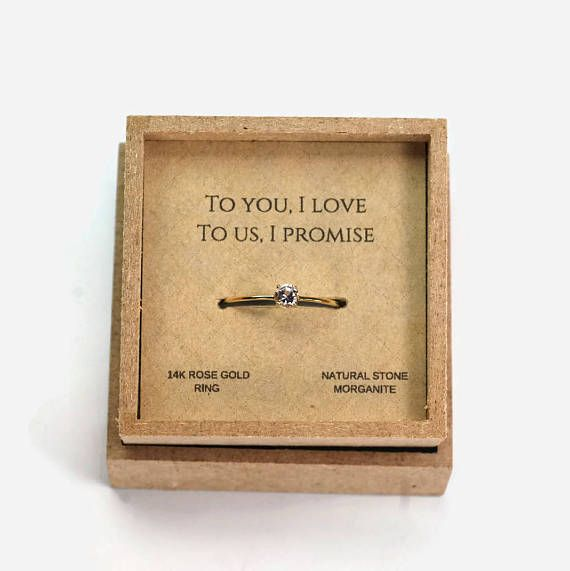 promise ring for her girlfriend gift! I love the saying on the box!