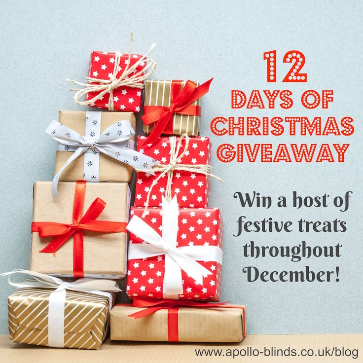 Enter before 12/12 for a chance to win great festive prizes