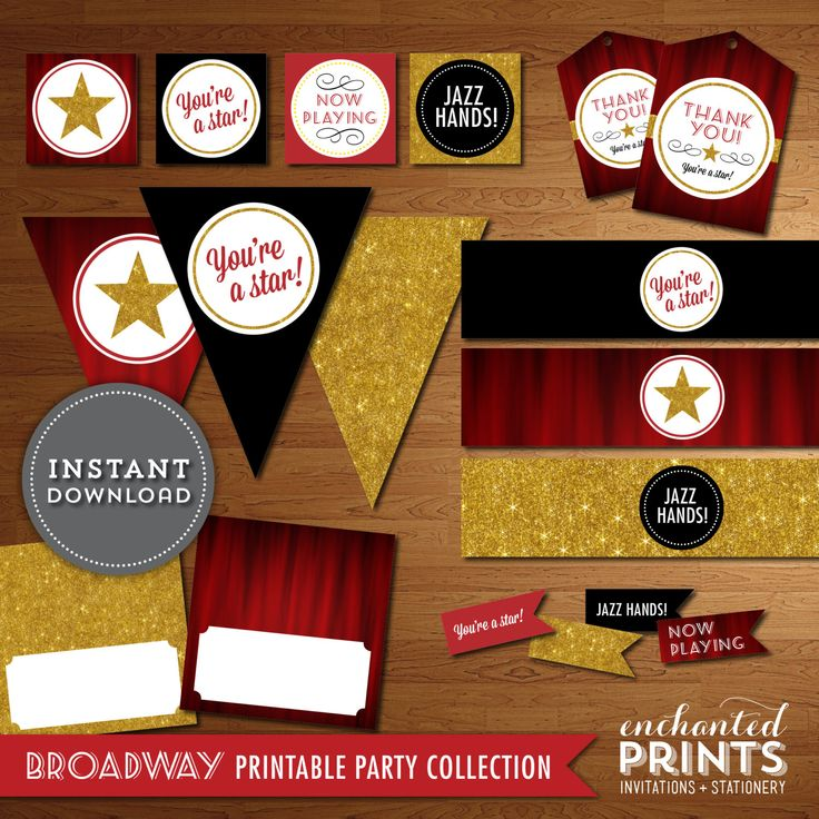 Instant Download  Printable DIY Broadway Party by EnchantedPrints, $25.00