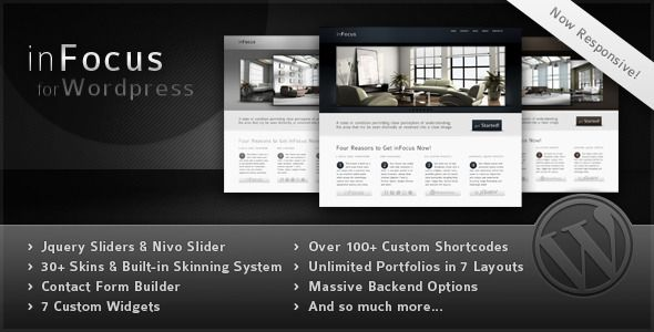 inFocus – Powerful Professional WordPress Theme, it is an innovative theme that is powerful and can be used for professional purposes with its elegant design.