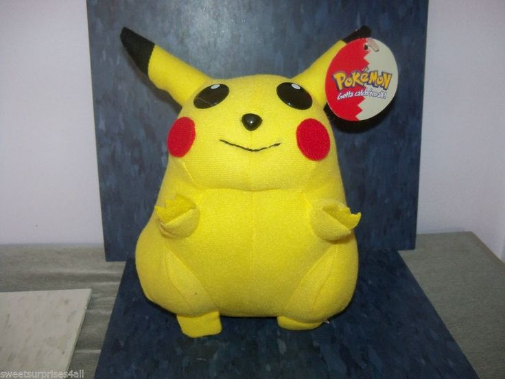 Cartoon Characters Yellow : Pokemon yellow pikachu stuffed toy japanese cartoon