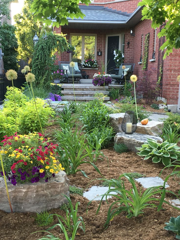 1240 best Front yard landscaping ideas images on Pinterest ... on No Grass Garden Ideas  id=96407