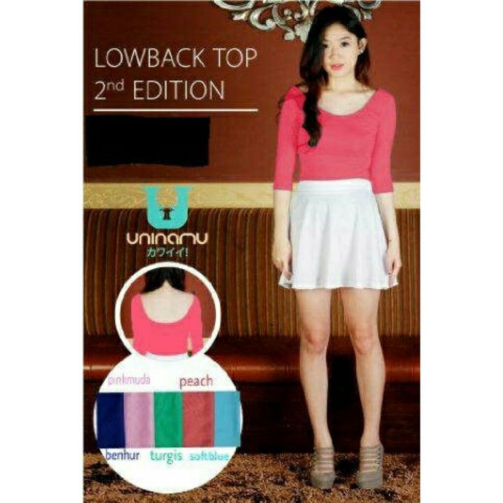 lowback Top _20 bahan spandex _ size L  ready 1 wrna  peach 63.000 IDR (sf) .