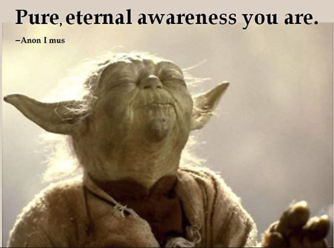 Pure, eternal awareness you are. –Anon I mus