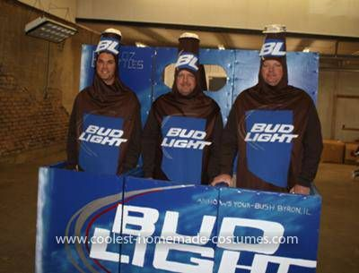 coolest beer bottles costume - Funniest Diy Halloween Costumes