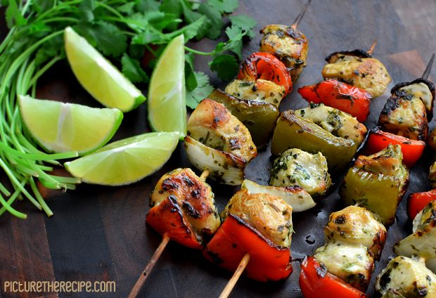 Cilantro-Lime Chicken Skewers. This lime marinade is deliciously easy. A surefire go-to dish!