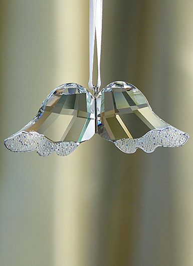 Swarovski angel wings ornament. Hanging these on the Christmas tree in honor of my little angel ♥