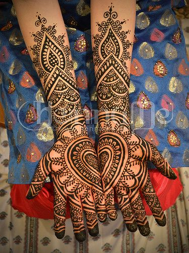 Heart bridal henna mehndi                                                                                                                                                                                 More