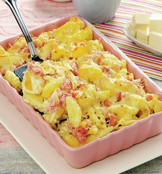 Paste gratinate cu brânză topită