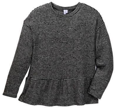 Good Luck Girl Soft Peplum Stripe Sweater (Big Girls)