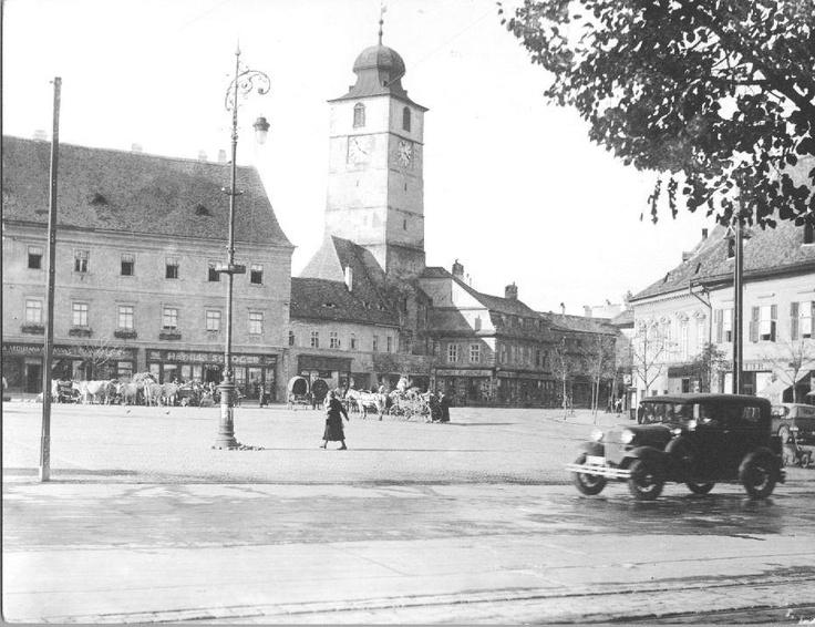 Sibiu - Piata Mare - interbelica