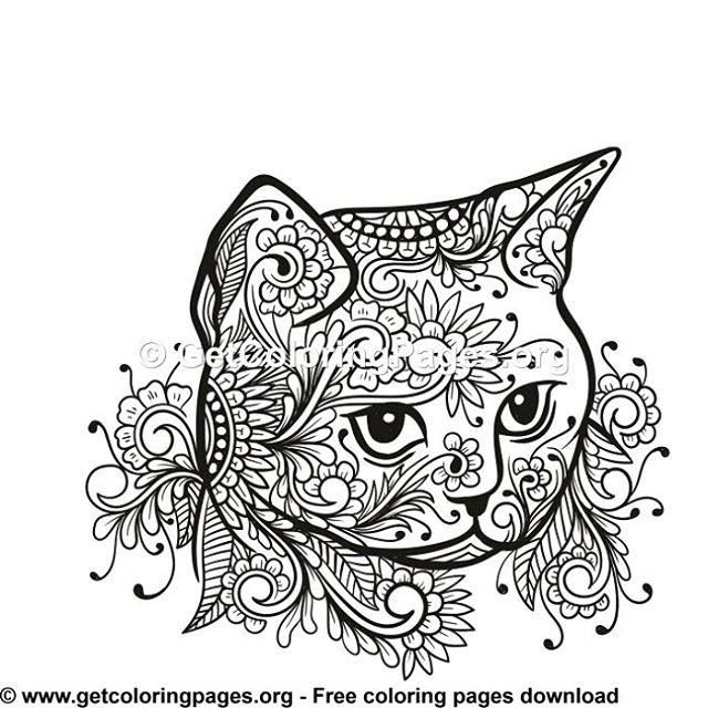 Please Like And Free Limited Downloads Follow Us Getcoloringpages Getcoloringpages Doodle Dood Cat Coloring Book Abstract Coloring Pages Cat Coloring Page