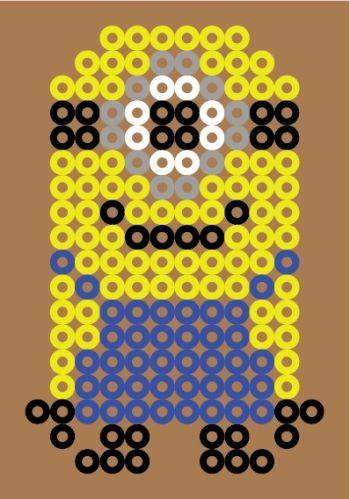 Moi Moche et Méchant, Minion version 1 en Perle HAMA (Mini)