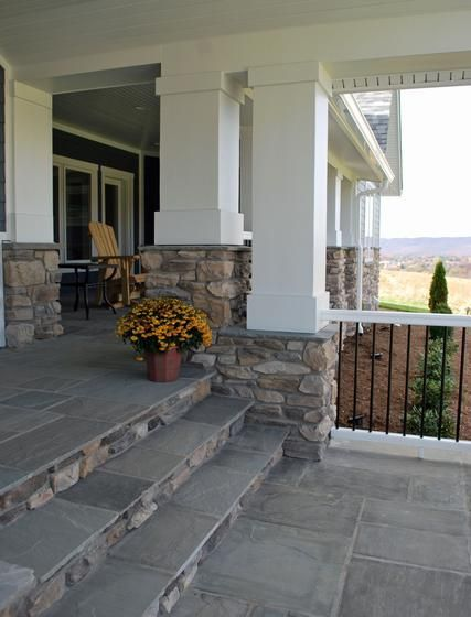 Those stairs! Eldorado Stone - Imagine - Designer's Portfolios - Contemporary Farmhouse