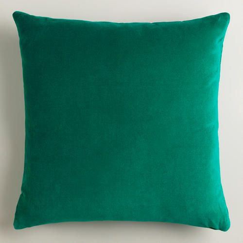 Emerald Green Throw Pillows  - If you want to draw someones eye to something, add a splash of color.  This green is very on trend this fall!  $9.99