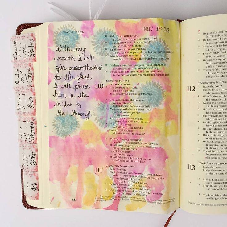 { Psalm 109:30 } #biblejournaling #biblejournalingdaily #journalingbible #biblejournalingcommunity #bibletabs #illustratedfaith