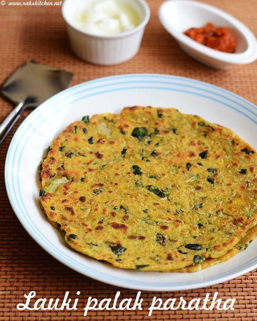Lauki palak paratha  is a must try recipe among lauki palak combination recipes