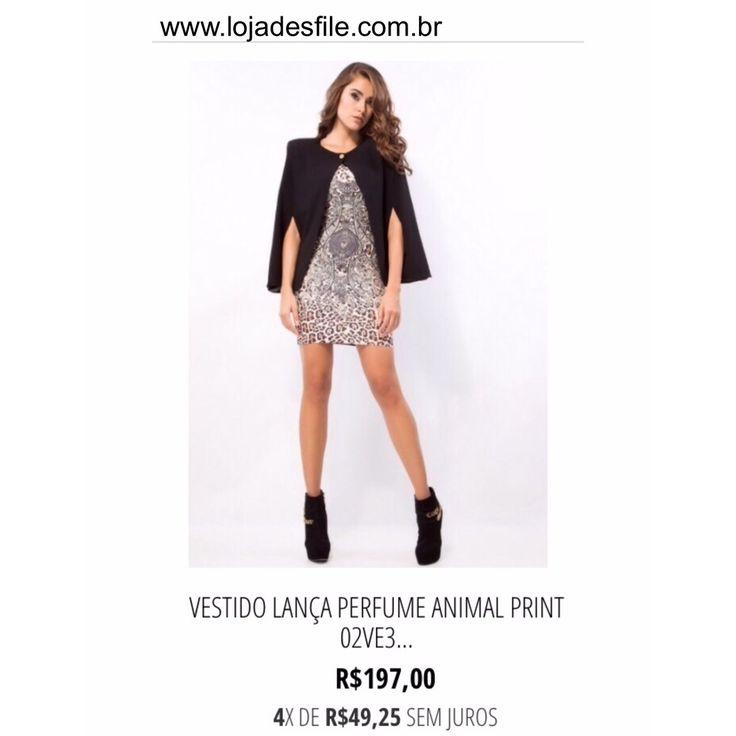 Produto: Vestido Lanca Perfume Animal Print  ✅ Digite no campo de busca do site: ( Vestido Animal Print ) e encontre rápido!!! Compras onlinewww.lojadesfile.com.br  ▶️Pagamento via cartão parcelado (pagseguro - paypal - mercado pago)  ▶️ Pagamento à vista  10%desc.  ( Transferência ou depósito bancário)   Brasil  Bradesco  Caixa  ➡️ Enviamos pra todo o Brasil   ➡️ Frete grátis acima de $350,00  Whats Vendas (38) 99927-3446 (Jr)  Whats Vendas (38) 99111-9221 (Dan)  Tel (Loja física)☎️(38)…