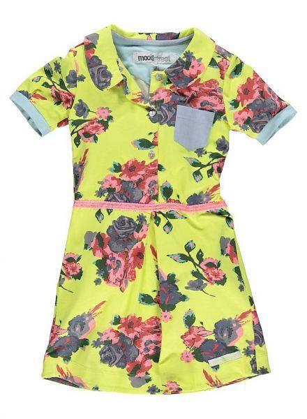 Moodstreet Moodstreet jurk geel met Bloemen