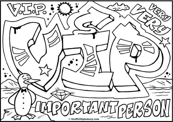 Graffiti Creator COLouring Pages In Capitals 4