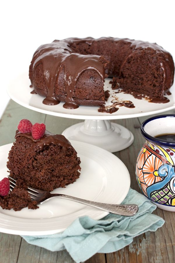 Mexican Chocolate Bundt Cake with Tequila Liqueur Ganache for Cinco De Mayo
