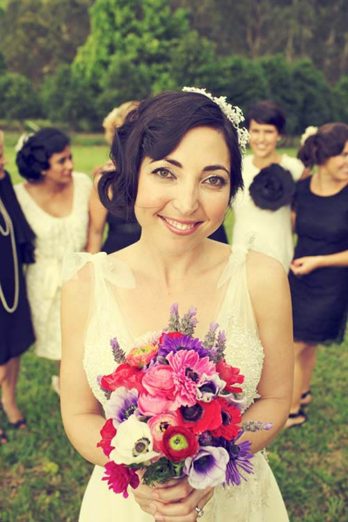 Love the dress and the flowers and the reception set up