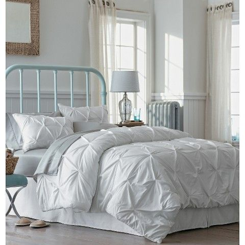 modern master bedroom with threshold seersucker duvet cover set | Threshold™ Pinched Pleat Comforter Set Guest Room | House ...
