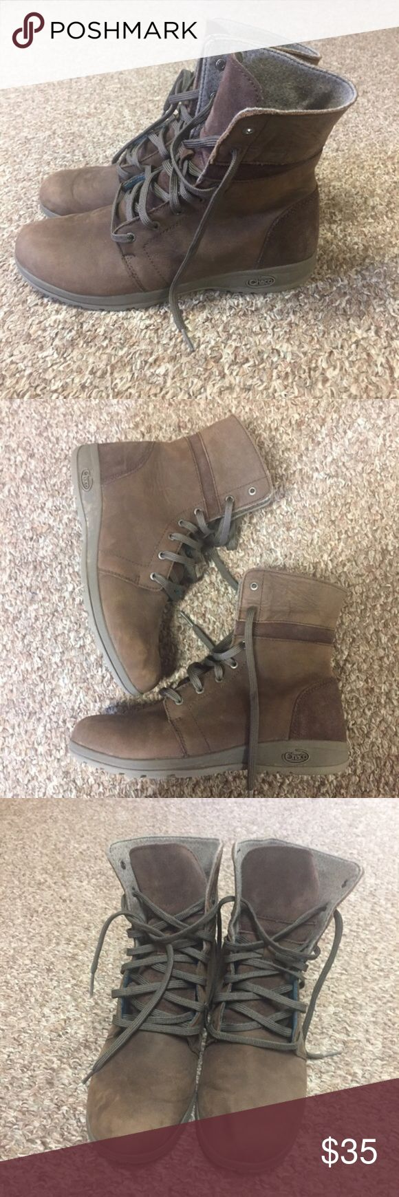 Chaco Natilly Boot- size 6.5 Selling these Chaco Natilly Boots in a size 6.5. They are slightly preowned but in overall very good shape! For size reference, I'm usually a 7 but these fit perfect. Feel free to leave any questions :) Chaco Shoes Combat & Moto Boots