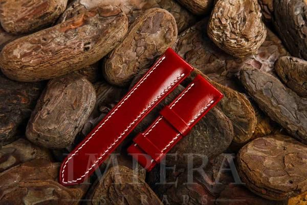 Red Leather Watch Strap,https://www.imperastraps.com