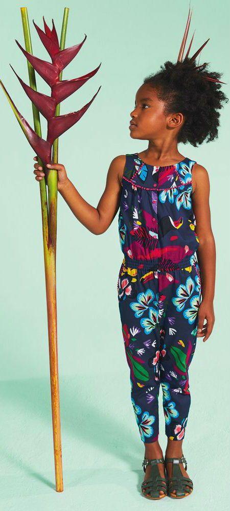 6fcbd973c Girls Jungle Print Jumpsuit