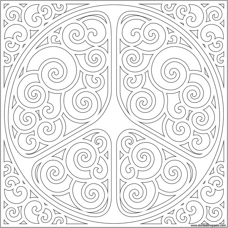 swirly peace symbol for doodling or coloring available in jpg as well