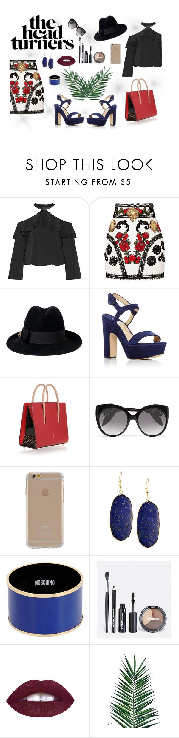 """""""The head turners"""" by pinkg555 on Polyvore featuring Alice + Olivia, Dolce&Gabbana, Gucci, Paul Andrew, Christian Louboutin, Alexander McQueen, Agent 18, Panacea, Moschino and Avenue"""