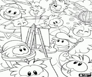 a club penguin coloring sheet - Club Penguin Coloring Pages Ninja