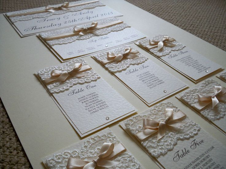 LUXURY A2 WEDDING TABLE PLAN ( Vintage Lace ) Any Colours