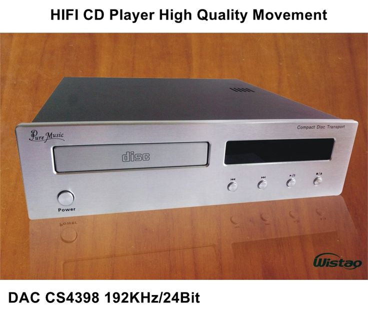 369.00$  Buy now - http://alixkq.worldwells.pw/go.php?t=32752568246 - HIFI CD Player with DAC CS4398 192Khz / 24Bit  High Quality Movement  Upgrade Version Black or Withe Panel 220V  Audio