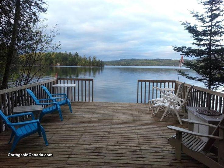 Cottage on Danford Lake, near Kazabazua, Quebec:  All season 2-storey lakefront cottage/ski chalet with 6 bedrooms in all - sleeps 11.