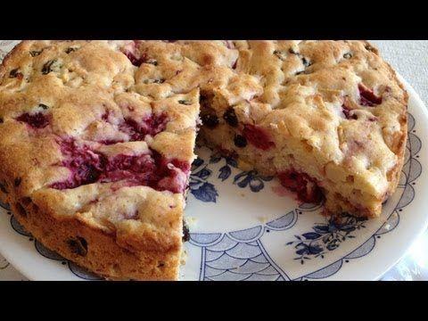 Muy Locos Por La Cocina: Pastel de Manzana a la Sidra con Frambuesas y Pasas