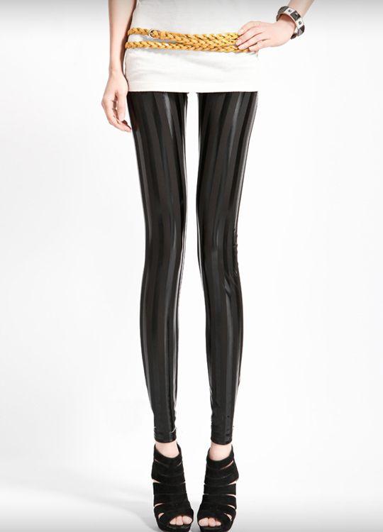 Black Metallic Shiny Disco Legging  $16.62