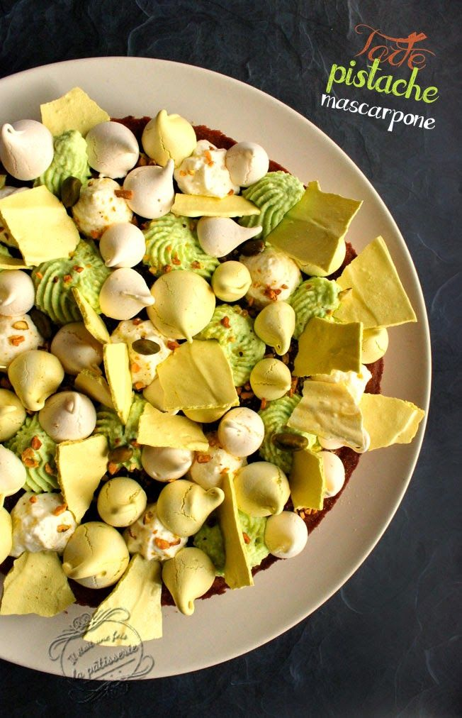 Tarte à la pistache et mascarpone, façon fantastik