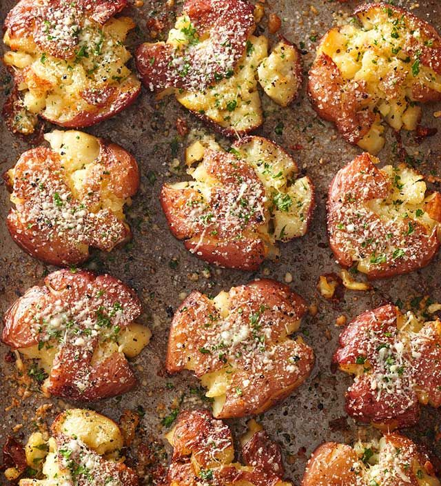 Fried Smashed Potatoes from the Better Homes and Gardens Must-Have Recipes App