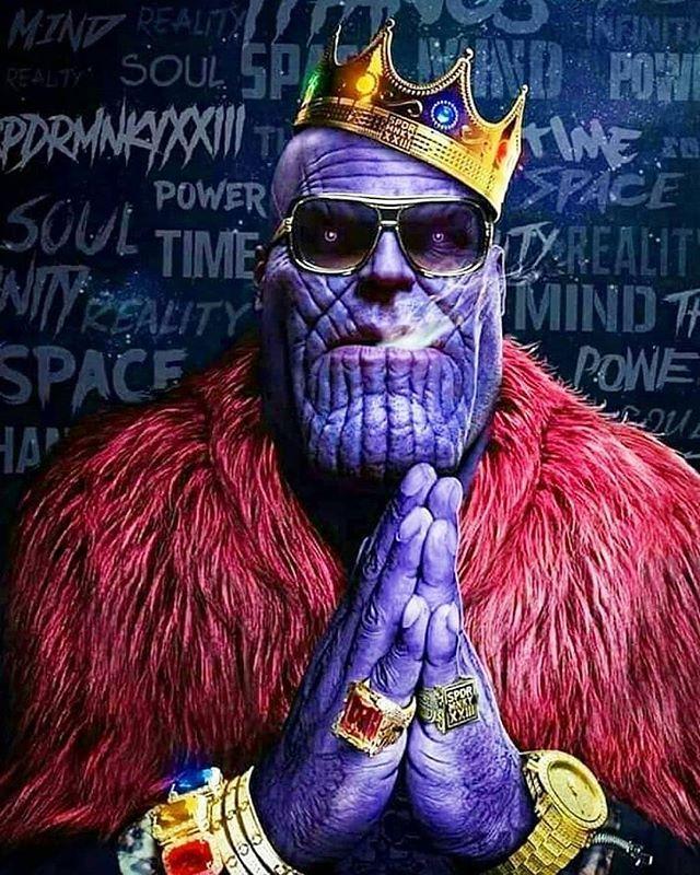 Regrann from @joshbrolin - I said its thug life bitches.  Thanos #avengersbemybitches art by @spdrmnkyxxiii - #regrann  #avengerscosplay #newavengers #avengersrp #youngavengers #scavengers #avengersassemble #theavengersageofultron #avengerscake #avengersaou #theavengers #avengersacademy #avengers3 #avengers #legoavengers #avengersinfinitywar #avengers2 #avengers4 #marvelavengers #avengersageofultron